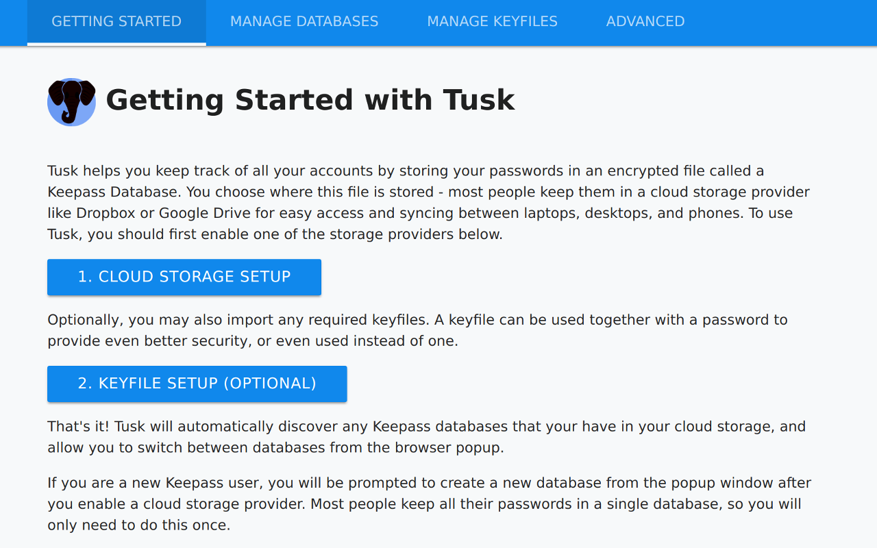 Tusk - Modern KeePass for the browser